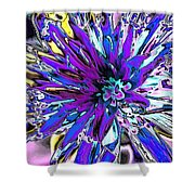 Abstract Wildflower 9 Shower Curtain