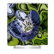 Abstract Wildflower Shower Curtain
