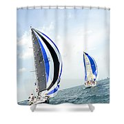 Abstract Wind And Seas Shower Curtain