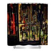 Abstract Window Shower Curtain