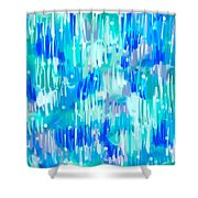 Abstract Winter Shower Curtain