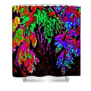 Abstract Wisteria Shower Curtain