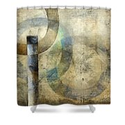Abstract With Circles Shower Curtain