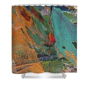 Abstract With Gold - Close Up 7 Shower Curtain