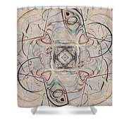 Abstract With Hearts Shower Curtain