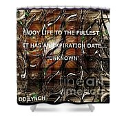 Abstract With Quote Shower Curtain