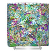 ract with Shapes and Squiggles Shower Curtain