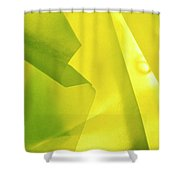 Abstract Yellow And Green Shower Curtain