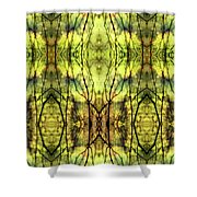 Abstract Yellow Trees Shower Curtain