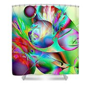 Abstract051710b Shower Curtain