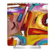 Abstract2 Shower Curtain