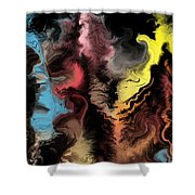 Abstract309i Shower Curtain