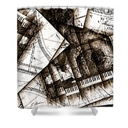 Abstracta 24 Cadenza Shower Curtain