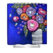 Abstracted Flowers - 2 Shower Curtain