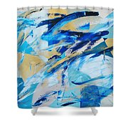 Abstracted Geometry Shower Curtain