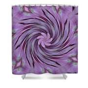 Abstracted Twirl Pink Hydrangea Flowers Shower Curtain