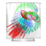 Abstractedness - 3 Shower Curtain