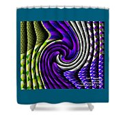 Abstracticalia Swirlia Tessalania Catus 1 No. 1 Shower Curtain