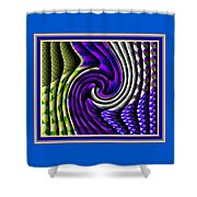 Abstracticalia Swirlia Tessalania Catus 1 No. 1 L B With Decorative Ornate Printed Frame. Shower Curtain