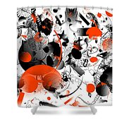 Abstraction 1109 Shower Curtain