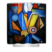 Abstraction 1720 Shower Curtain