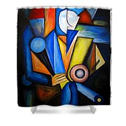Abstraction 1721 Shower Curtain