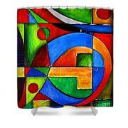 Abstraction 1723 Shower Curtain