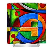 Abstraction 1724 Shower Curtain