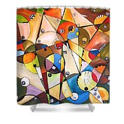Abstraction 1768 Shower Curtain