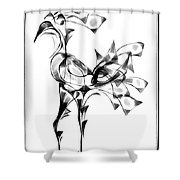 Abstraction 1808 Shower Curtain