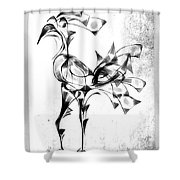 Abstraction 1809 Shower Curtain