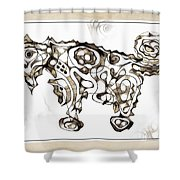 Abstraction 1950 Shower Curtain