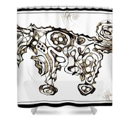 Abstraction 1951 Shower Curtain