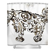 Abstraction 1952 Shower Curtain