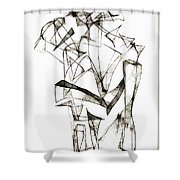Abstraction 1953 Shower Curtain