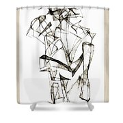 Abstraction 1955 Shower Curtain