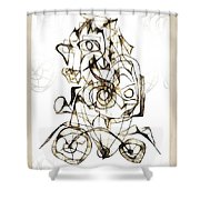Abstraction 1959 Shower Curtain