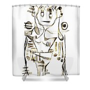 Abstraction 2043 Shower Curtain