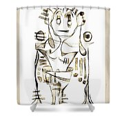 Abstraction 2044 Shower Curtain