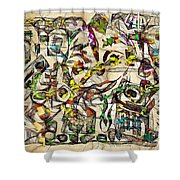 Abstraction 2049 Shower Curtain