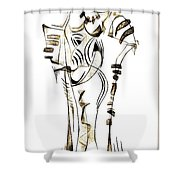 Abstraction 2152 Shower Curtain