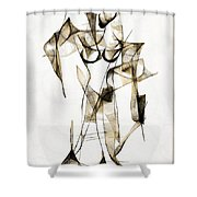 Abstraction 2176 Shower Curtain