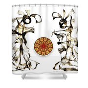 Abstraction 2184 Shower Curtain