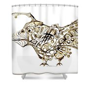 Abstraction 2247 Shower Curtain