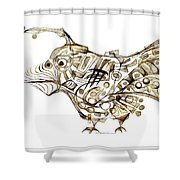 Abstraction 2248 Shower Curtain