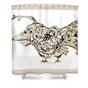 Abstraction 2249 Shower Curtain