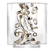 Abstraction 2256 Shower Curtain