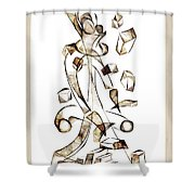 Abstraction 2257 Shower Curtain