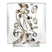 Abstraction 2258 Shower Curtain
