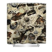 Abstraction 2322 Shower Curtain